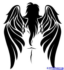 Tribal Angel Designs How To Draw A Tribal Angel Tribal Angel Step By Step