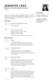 Examples Of Nanny Resumes Gorgeous A Nanny Resume Examples In 28 Resume Examples Pinterest
