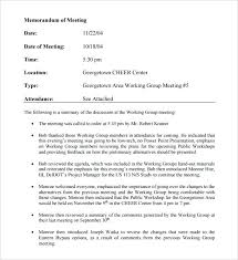 Technical Writing Memorandum Sample Letter Meeting Memo To Boss ...