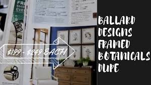 ballard designs framed botanicals dupe easy diy decor target frames