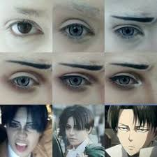 levi ackerman cosplay makeup tutoriallevi cosplayanime