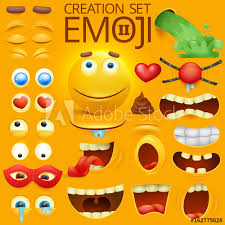 Yellow Smiley Face Character For Your Scenes Template