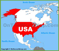 Usa Location On The North America Map