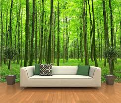 photographic wallpaper murals peel and stick photo wall mural decor wallpapers  forest art photography