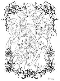 Disney princesses, a walt disney creation, features 11 princesses namely snow white, cinderella, aurora, jasmine, merida, pocahontas, ariel, belle, mulan, tiana and rapunzel. Disney Fairies Coloring Page Crayola Com