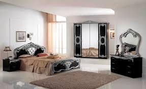 italian bed set furniture. cristina bedroom set black u0026 silver italian bed furniture