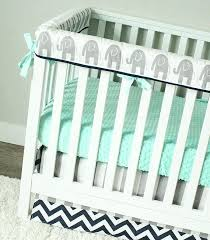 grey nursery bedding elephant baby bedding mint gray and navy blue nursery set teething rail guard