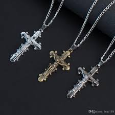whole mic jewelry gifts vine cross inri crucifix cross charm pendant men necklace diamond pendants single diamond pendant necklace