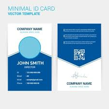 Card Design Template Abstract Creative Id Card Design Template Download Free