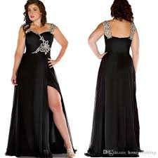 ball gown for plus size black plus size dresses evening wear spaghetti straps pleats beaded
