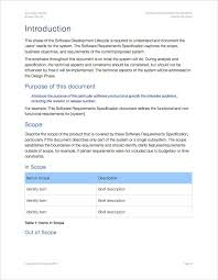Software Requirements Specification Template (Apple Iwork Pages ...