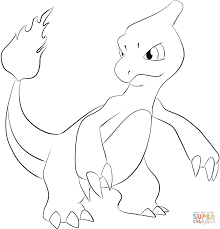 Small Picture Charmeleon coloring page Free Printable Coloring Pages