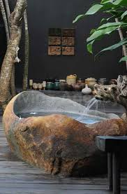 rustic stone bathroom designs. Adding Some Natural Elements To Bathroom Become One Of The Best Ways You  Can Do. In Addition Giving Impression Green Room, It Proved Able Rustic Stone Designs R