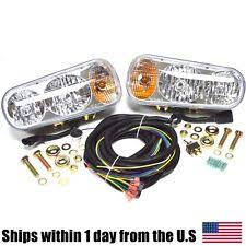 fisher plow lights snow plow halogen light kit switch flasher fits western meyer fisher boss curtis