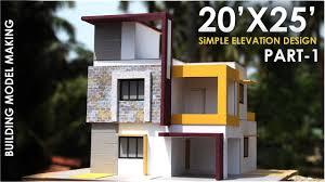 Simple Building Design Pictures 20x25 Simple Modern Building Model