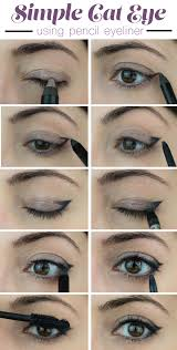 how to create a cat eye using pencil eyeliner