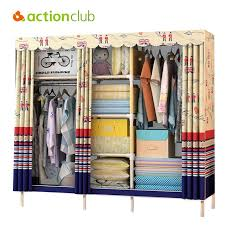 clothes storage cabinet. Fine Cabinet Actionclub Simple Modern Wardrobe Clothing Storage Cloth Folding  Fabric Closet DIY Cabinet Dustproof Furniture In Clothes