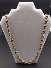 gucci link chain. 14kt yellow gold puffy gucci link style chain / necklace - 20