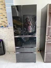 Tủ lạnh cũ Toshiba 6 cánh GR-F56FXV (ZT) mặt gương, cảm ứng
