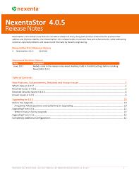 Nexentastor 4 0 5 Release Notes Manualzz Com