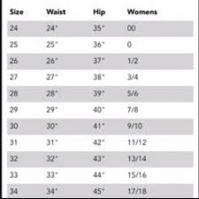 Miss Me Jeans Size 25 Chart Miss Me Size Chart
