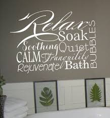 Wall Sticker Bathroom Relax Collage Vinyl Lettering Decal Words Wall Sticker Bathroom