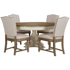 Haddie Light Tone Round Table Coventry Two Tone Round Table 4 Upholstered Chairs Round