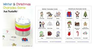 Winter And Christmas Charades Free Printable Game For Kids Buggy