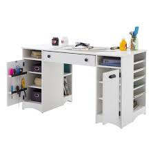 Amazon.com: Artwork Craft Table with Storage - Large Work Surface -  Multiple Storage Spaces - Pure White by South Shore: Arts, Crafts & Sewing