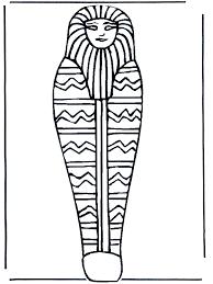 Farao Doodskist Kleurplaat Egypte
