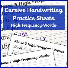 To view the worksheet activity or to download the pdf, click on the individual title. Cursive Handwriting Worksheets High Frequency Words Free Printable Mama Geek