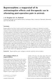 Pdf Buprenorphine A Reappraisal Of Its Antinociceptive