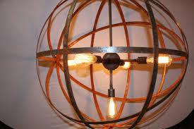 metal sphere chandelier