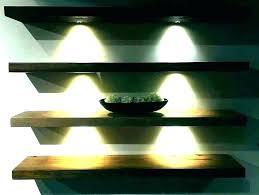 floating shelves with lights underneath shelf light use wall lighted acrylic s led glass uk mounted floating shelf