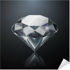 Oslňující Diamant Na černém Pozadí S Odrazem