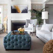 Living Room Ottomans Chic Ottoman Tray In Living Room Traditional With Fabric Covered