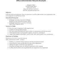 Objectives For Resumes For High School Students Resume Sample Web