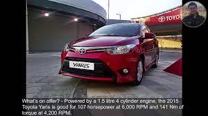 2015 Toyota Yaris Sedan Review - YouTube