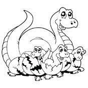 Kleurplaat Dinosaurus 3752