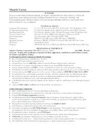 Quality Assurance Manager Resume Mwb Online Co