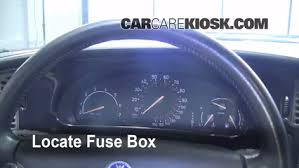 interior fuse box location 1999 2009 saab 9 5 2005 saab 9 5 arc locate interior fuse box and remove cover