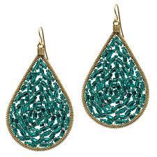 emerald teardrop chandelier earrings