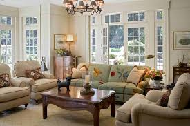 french country decor living room family room traditional with