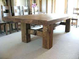 small rustic dining table kitchen round room oak extending