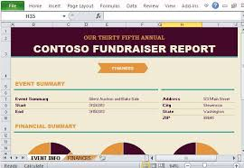 fundraising report template non profit fundraising report maker for excel