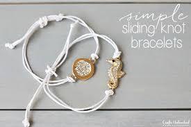 sliding knot bracelet diy