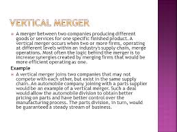 Vertical Merger Example Merger Acquisition Merger Acquisition Fiza Talat F10ba109 Amina