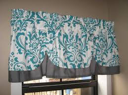 kitchen valances valance window curtain swagged swag custom made bathroom teal blue swags valance pelmet ds