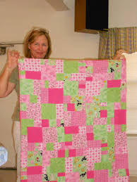 Brownwood Quilters' Guild: August 2011 & Nancy Tubb - Pink Lemonade-pattern from Quilt in a Day - made for Nancy's  new twin grandchildren Adamdwight.com