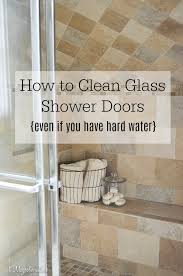 best way to remove hard water from glass shower doors is to use a home right